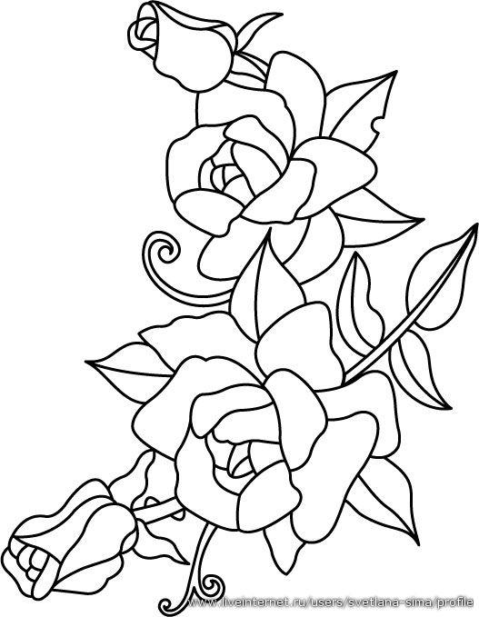 Pin By Mara Lodi On Trafarety Applikaciya Raskraski Stained Glass Quilt Flower Drawing Fabric Painting