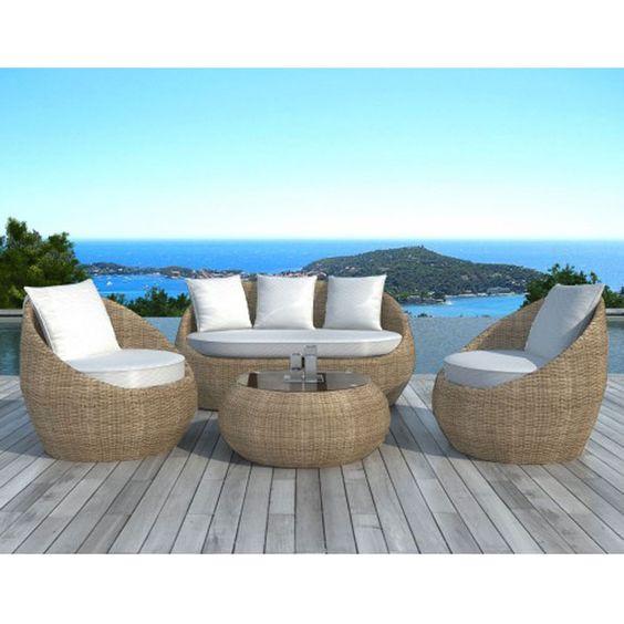 Salon de jardin design Rondo rotin prix promo Atylia 1 169.00 € TT ...