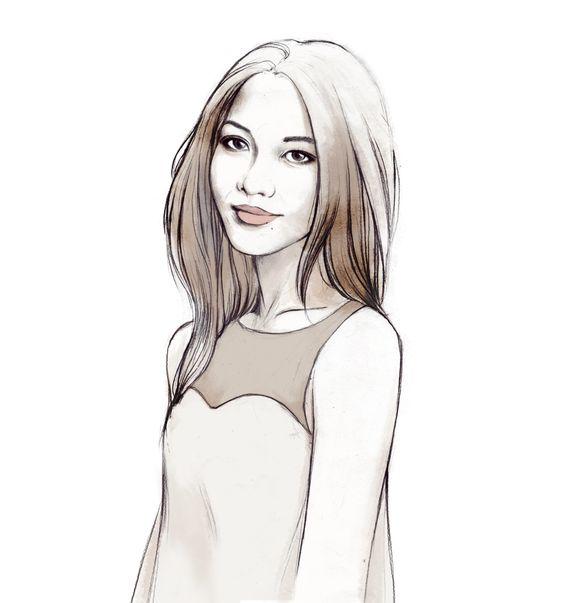 Myself illustrated by Soleil Ignacio <3 #draw #painting #illustration