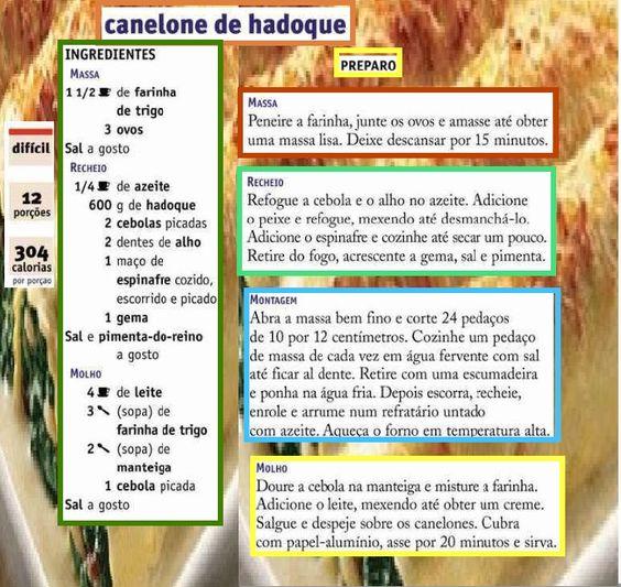 BIOGRAFIAS E COISAS .COM: RECEITAS DE MASSAS