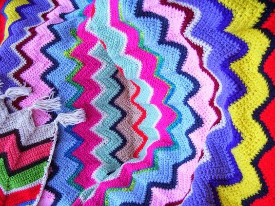 cobertor de crochê belíssimos