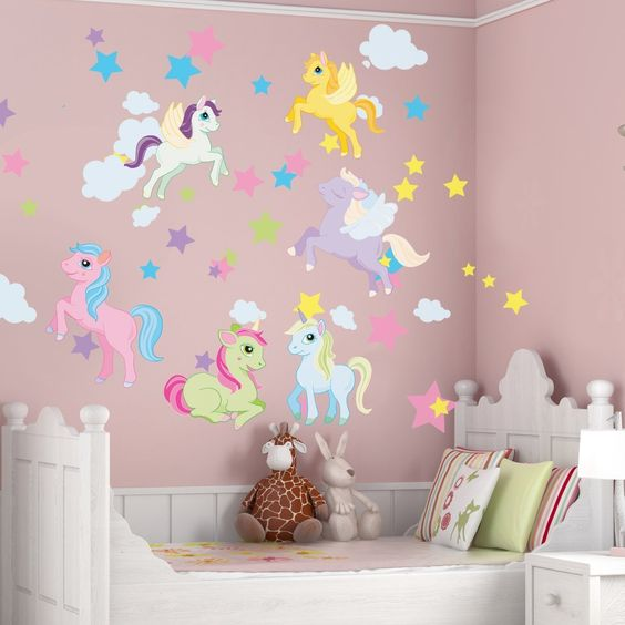 Unicorn and Pegasus wall decals