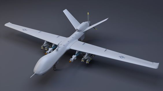 General Atomics MQ-9 Reaper UAV, Adam Korle on ArtStation at https://www.artstation.com/artwork/QWGNL