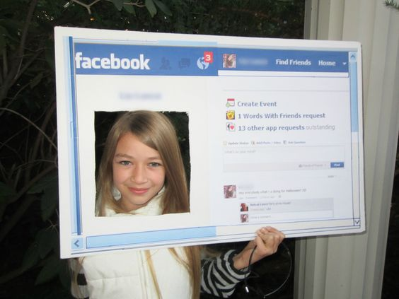 how to make a facebook costume