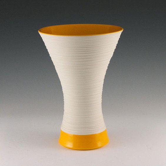 Large Groove Vase in Orange by kim westad