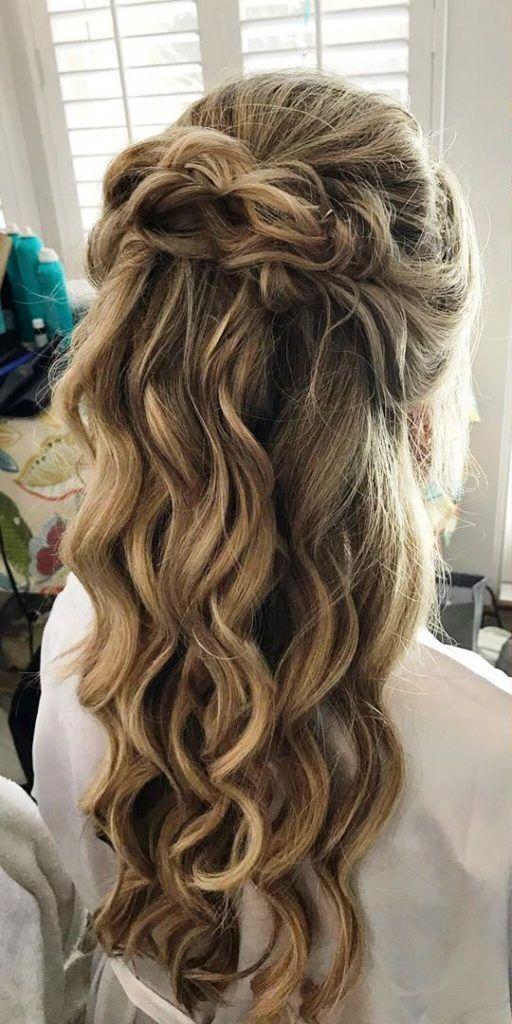 33 Gorgeous Half Up Half Down Hairstyles Ideas Longhairstyleshalfup Half Up Half Down Hair Prom Hair Styles Down Hairstyles