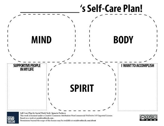 A Self-Care Plan Template | Work Stuff | Pinterest | Templates ...