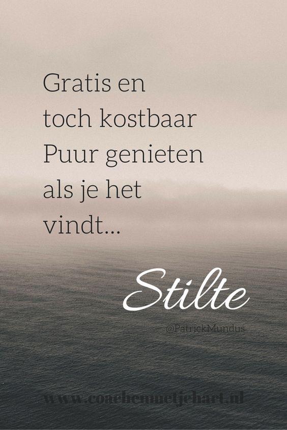 Gratis en toch kostbaar. Puur genieten als je het vindt... #Stilte
