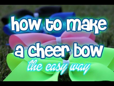 DIY Cheer Bow! (How to Make a Cheer Bow EASY) - YouTube