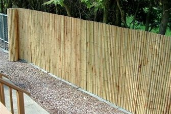 Have an ugly chain link fence? Cover it up with rolled ...