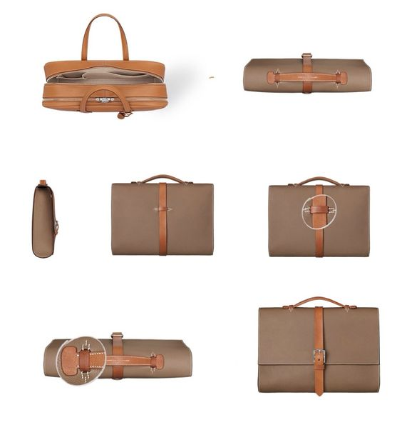 hermes Steve ebony men bags