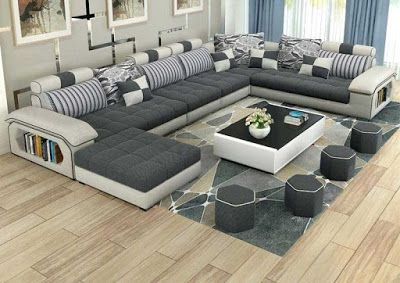 Modern Corner Sofa Sets Latest Living Room Furniture Design Catalogue 2018 This Is A Great Idea For A Modern Ap Corner Sofa Design Modern Sofa Set Sofa Design