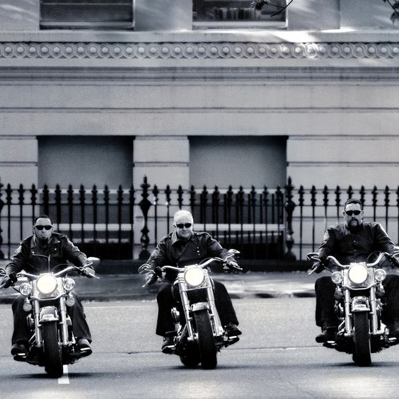 Portrait Dad & the boys on their Harley Davidson's  by # Tilnak