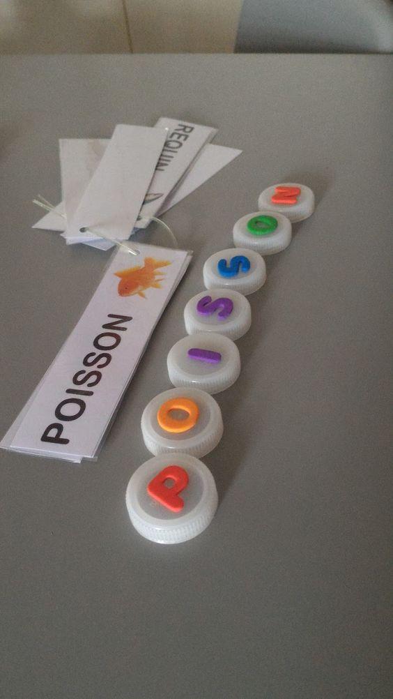 lettres mousse sur bouchon pr fabriquer des lettres mobiles