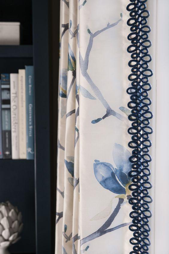 Trims And Tassels Custom Window Treatments Curtain Designs