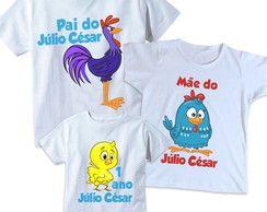 3 camisetas Galinha Pintadinha Personali