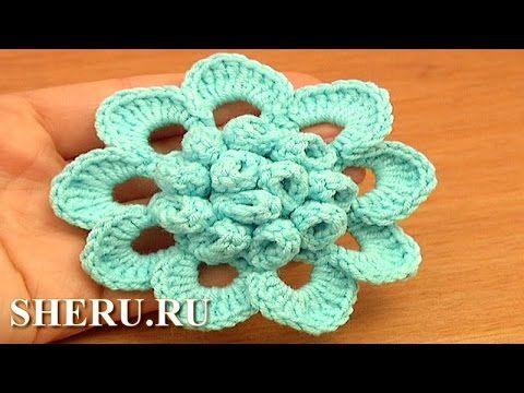 Crochet Flower Puff Stitch Center Tutorial 72 Crochet Flower Library