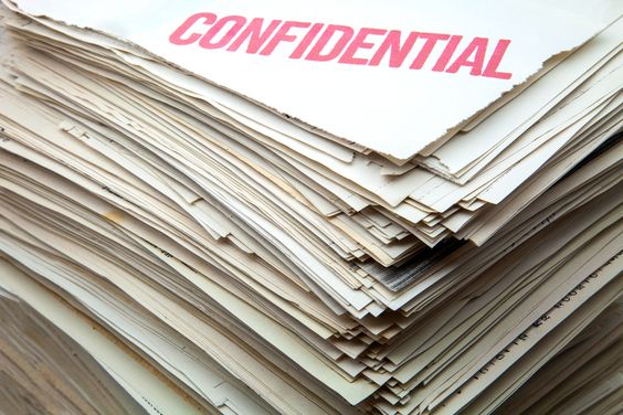 Confidential papers