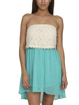 Lace Flounce Tube Dress CLEARANCE