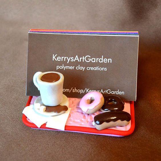 Kaffee und Donut Kartenhalter