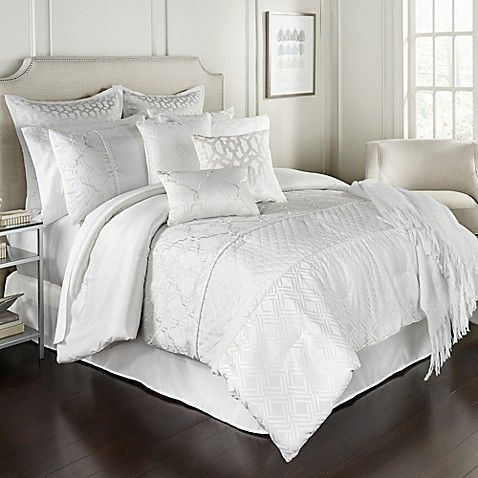 Lebesque 14 Piece King Comforter Set In White Comforter Sets Bed Linens Luxury Bedding Sets