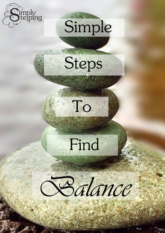 When your life is out of balance you can sense it.  Find Simple Steps, easy things you can do each day to restore balance.