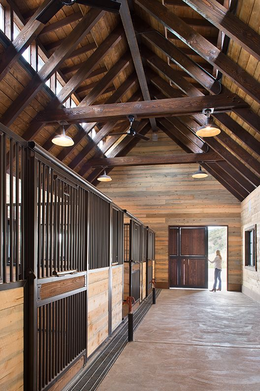 Land+Shelter Architects - Triple M Barn: Three horse stalls with an attached garage, office, and tack room. This project is located in the Roaring Fork Valley just outside of Aspen, CO. Land+Shelter: www.landandshelter.com   info@landandshelter.com Image: © Brent Moss Photography