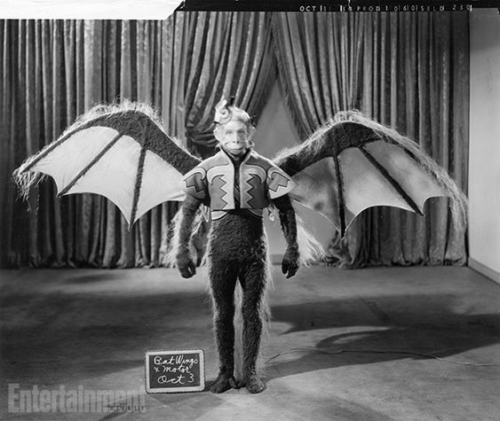 The Wizard of Oz | The men who were hired to play the winged monkeys were attached to ''bat wings'' and a small motor suited to power windsh...