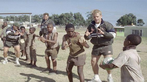 http://b.myplex.tv/InvictusTheFilm     Invictus from the year 2009 featuring Matt Damon the rugby sportsman and Morgan Freeman as Nelson Mandela