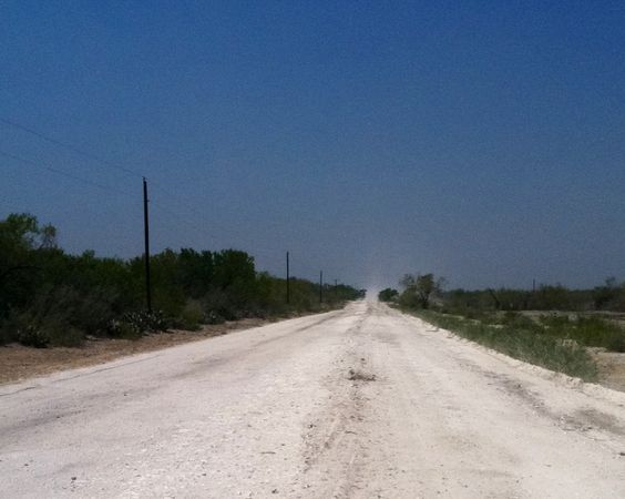 Typical county road in So Texas