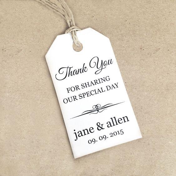 Thank You Tag Template ~ SMALL - DIY Printable Favor Tag ~ Gift ...