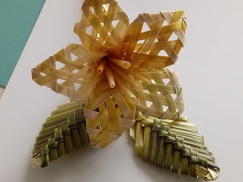 Jak Zrobic Kwiatek Ze Slomy Solomennye Cvety Strohblumen Youtube Leaf Crafts Christmas Crafts Crafts