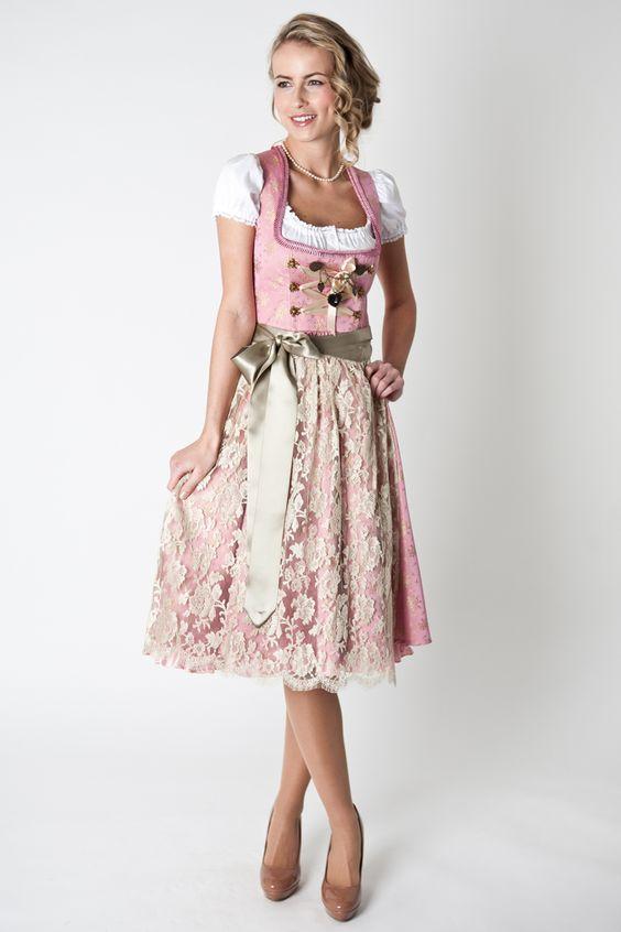 #Farbbberatung #Stilberatung #Farbenreich mit www.farben-reich.com Dirndl Josefine, rosa gold, 3-tlg