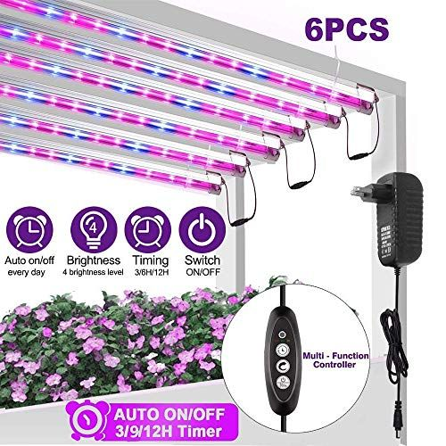 Led Grow Light Strip For Indoor Plants Full Spectrum Auto On Off Grow Lamp With Timer Extension Cables Plant Light In 2020 Led Grow Lights Grow Lamps Plant Lighting