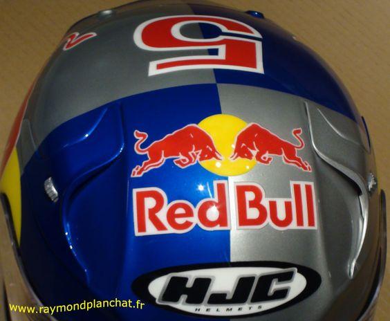 #Casque #moto #sport HJC #RedBull
