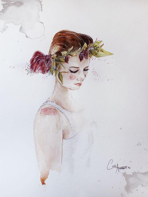 Noiva by Camila Averbeck Ilustrações. www.camilaaverbeck.com.br: