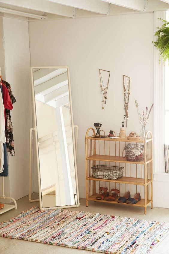 Pipe Standing Mirror - Urban Outfitters