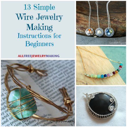 54 simple wire jewelry making tutorials bracelets for Learn to draw jewelry