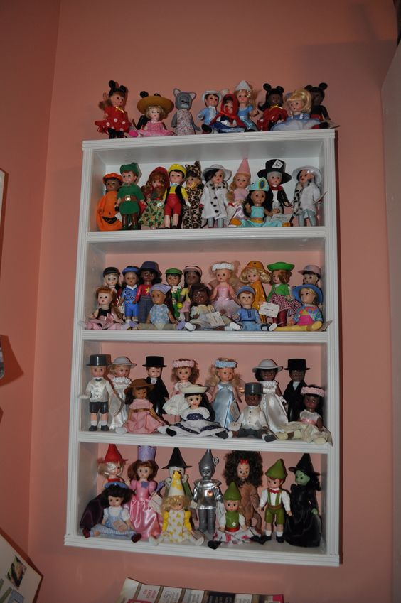 Madame Alexander dolls collected from McDonald's.