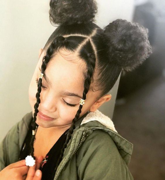 Natural Hairstyles For Black Girls Kids Curly Hairstyles Natural Hair Styles Baby Hairstyles