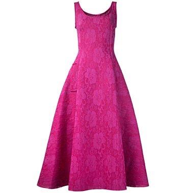 Lanvin Sleeveless Lace Dress Sleeveless lace dress with scoop neck, back zip fastening, two front pockets, and mid-length. Fully lined