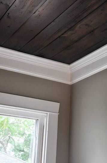 Wooden ceilings yes please home decor pinterest Painting paneling in basement