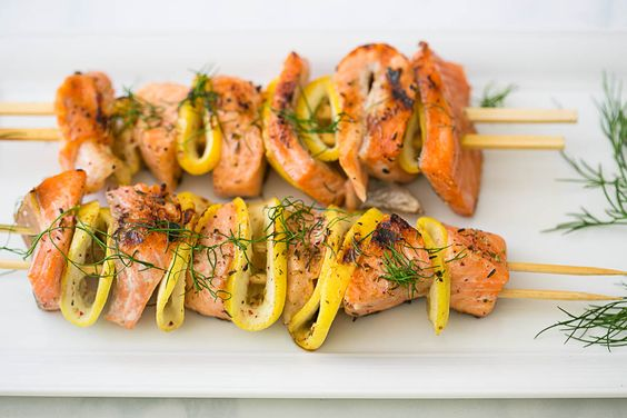 Middle-Eastern Spiced Salmon Kebabs   Weeknight Meals by Cook Smarts