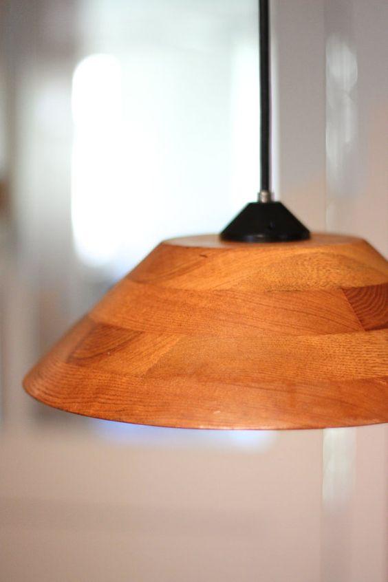 wood bowl pendant light repurposed bowl light fixture recycled lighting bowl pendant lighting