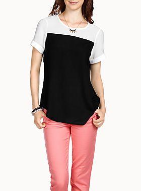 La blouse contraste couleurs | Simons