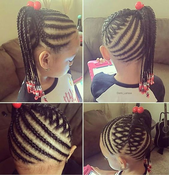 Enjoyable Girls Girls Braided Hairstyles And Hairstyles On Pinterest Short Hairstyles For Black Women Fulllsitofus