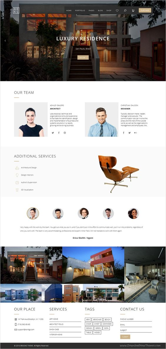 Brooks is a perfect multipurpose #WordPress theme for #architecture #agencies, creative studios, real estate, blogging, portfolio or eCommerce shopping website with 25+ stunning homepage layouts download now➩ https://themeforest.net/item/brooks-wp-creative-multipurpose-wordpress-theme/15939582?ref=Datasata