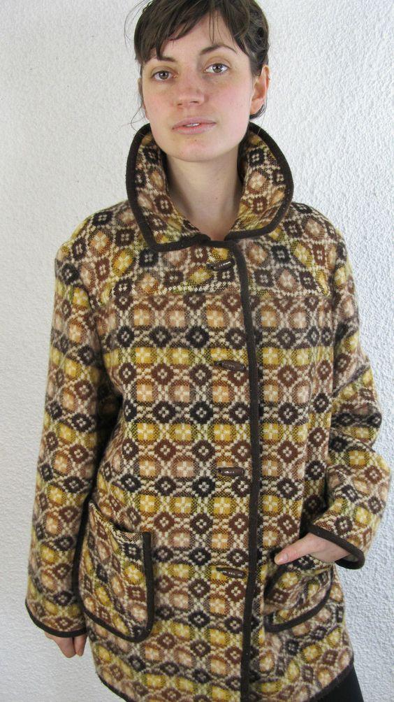 Superb Ladies Vintage Welsh Blanket Coat Woollen Coat UK 8-10 US 6-8 Eu 36-38 | eBay