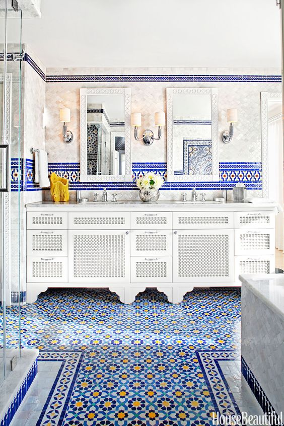 10 Bold Colored Floors That Wow
