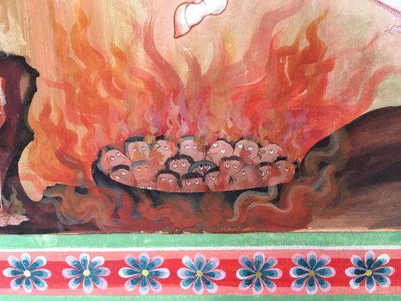 連載 タイの地獄めぐり 受け継がれる地獄絵 もうひとつの地獄表現 壁画 地獄絵図 地獄